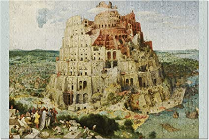 Amazon Com The Tower Of Babel Artist Pieter Bruegel The Elder C 1563 Masterpiece Classic Premium 1000 Piece Jigsaw Puzzle For Adults 19x27 Toys Games
