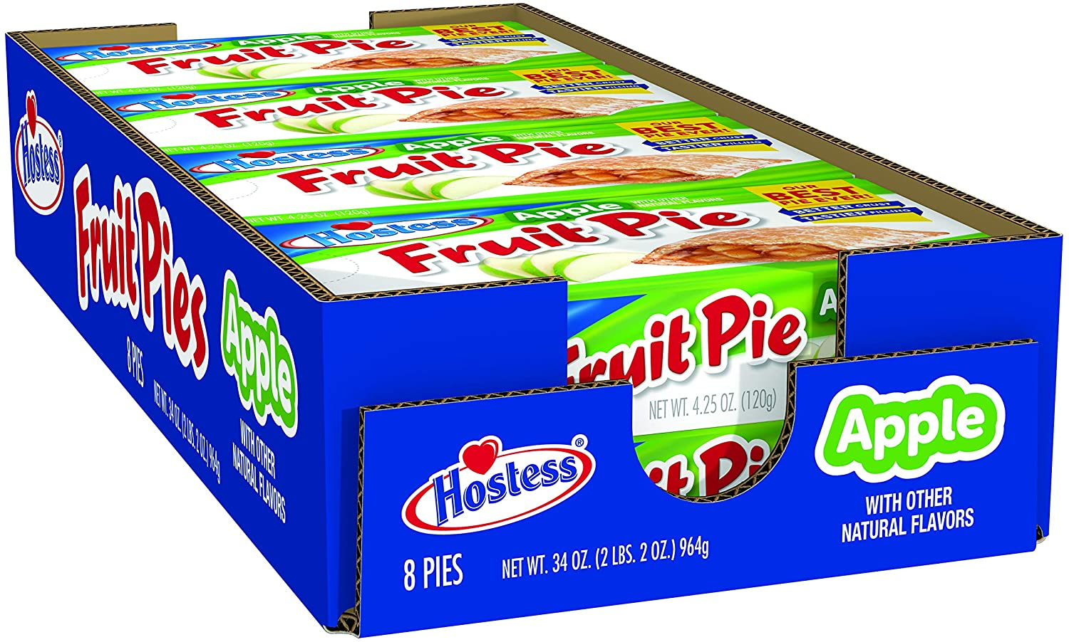 Hostess Fruit Pie, Apple, 4.25 Ounce, 8 Count