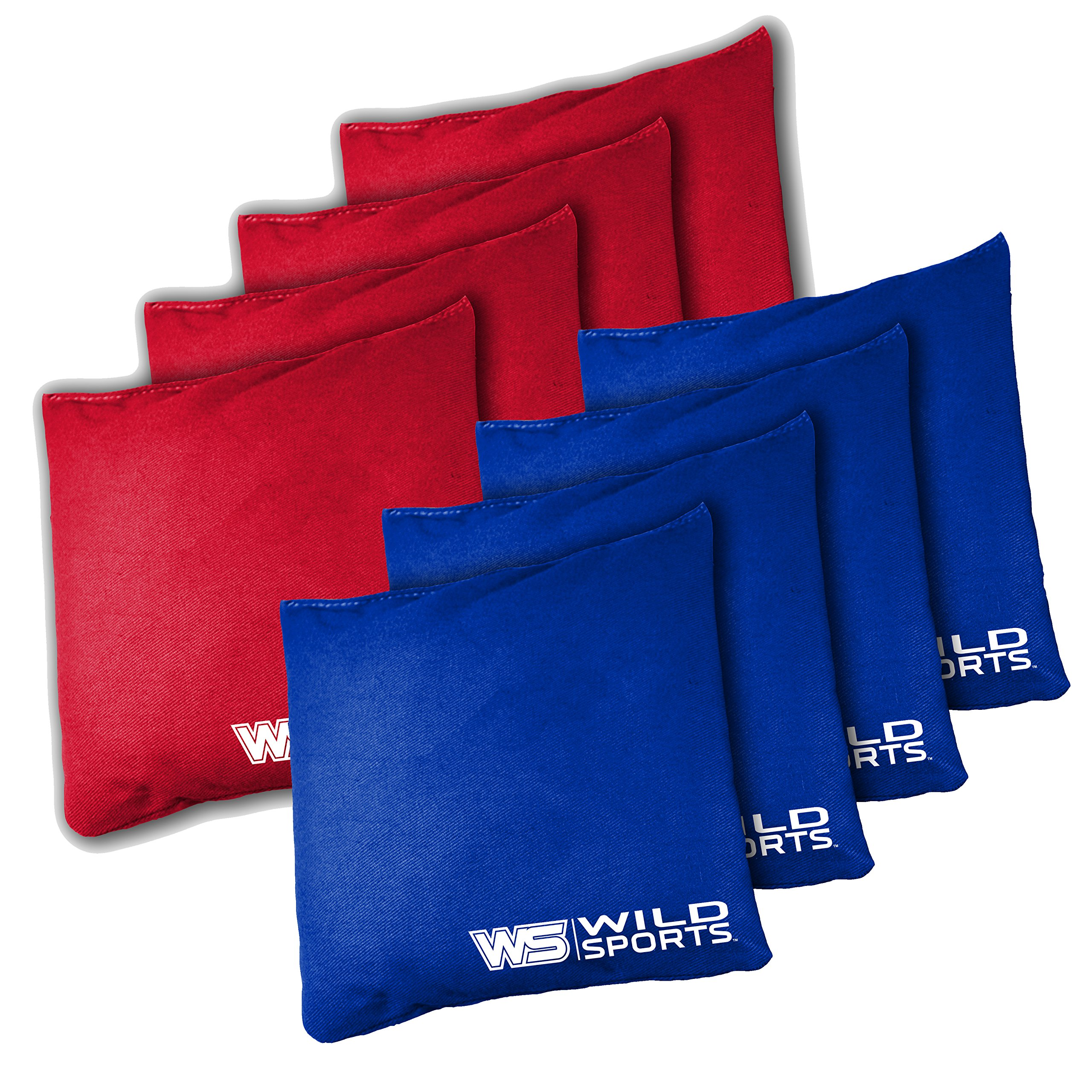 Wild Sports Tailgate Toss Regulation Bean Bags, Red/Royal Blue, 16-Ounce
