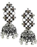 Zaveri Pearls Jhumki Earrings for Women (Silver)(ZPFK5944)