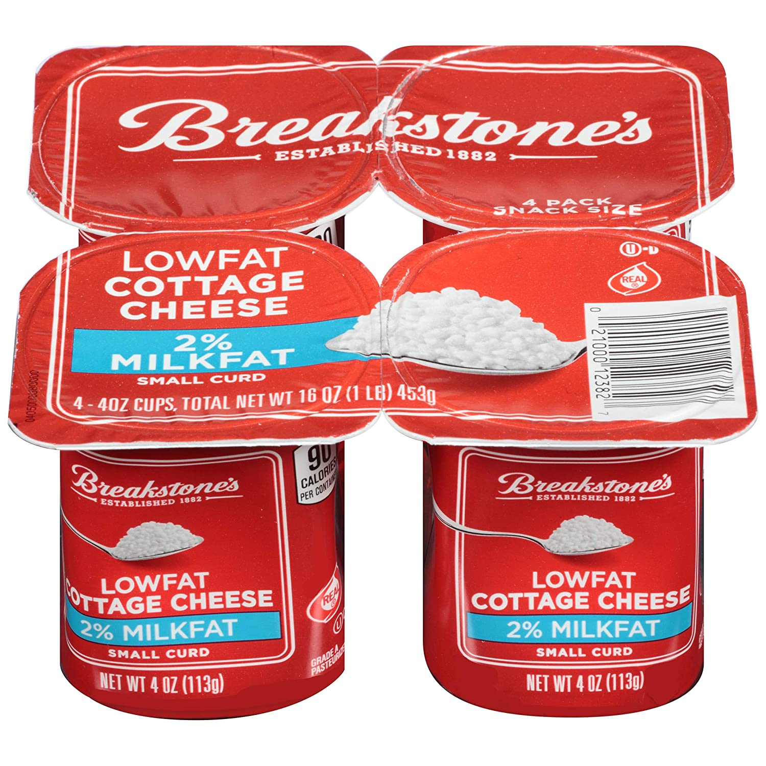 Swell Breakstones Low Fat Small Curd Cottage Cheese 4 Oz Cups 4 Count Download Free Architecture Designs Rallybritishbridgeorg