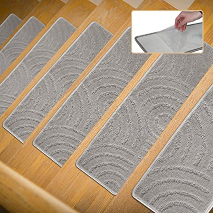 P.T Stair Carpet Treads Non Slip 1 Piece Indoor Self Adhesive Skid  Resistant Stair