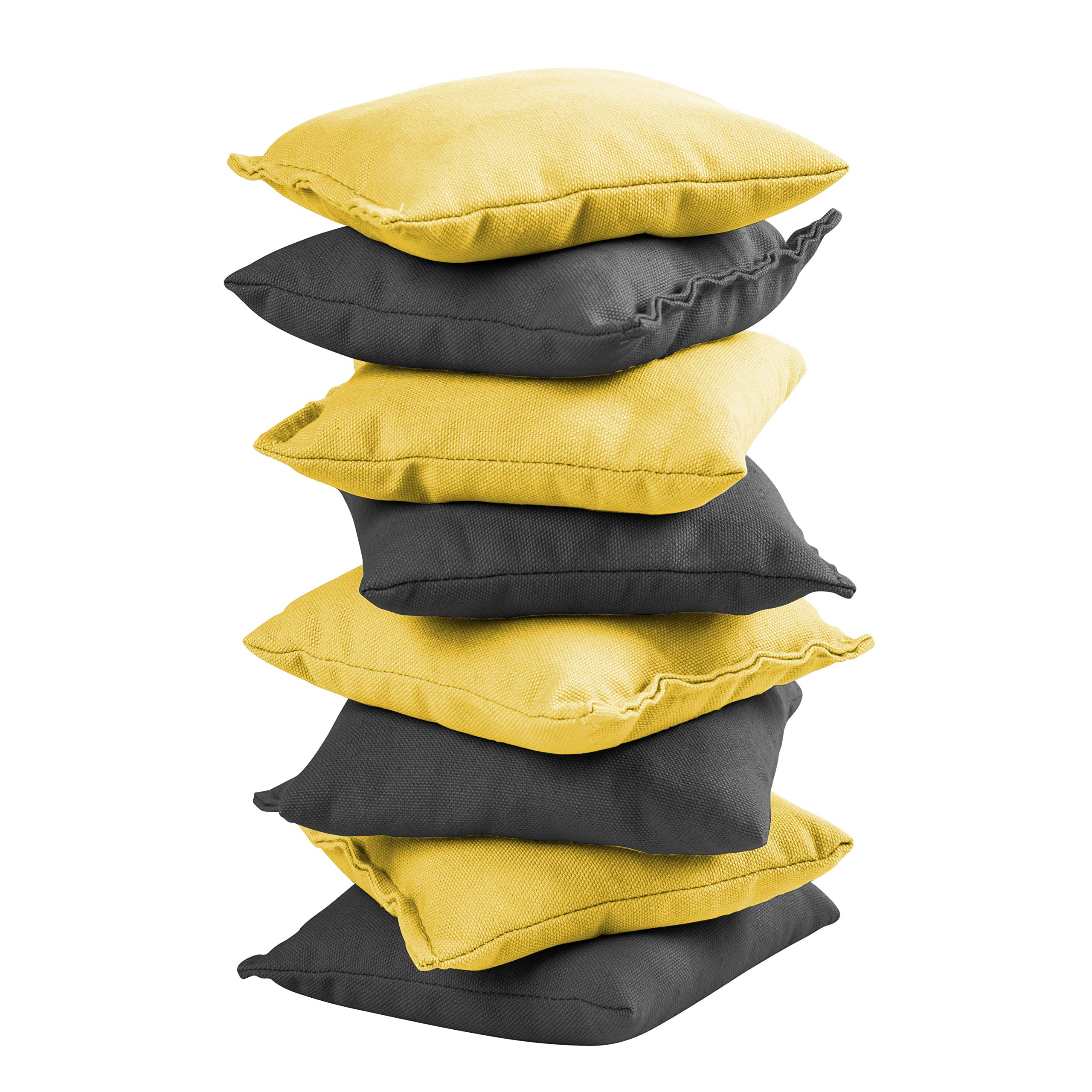 Victory Tailgate 8 Colored Corn Filled Regulation Cornhole Bags with Drawstring Pack (4 Black, 4 Yellow) by Victory Tailgate (Image #2)