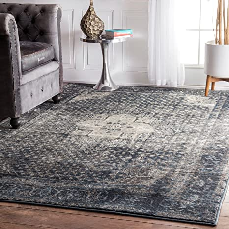 nuLOOM Grey Traditional Vintage Fancy Rug, 5 11