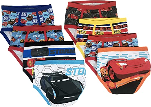 Cars and Stripes 4-5 Years Essentials Boys 8-Pack Boxer Brief Underwear