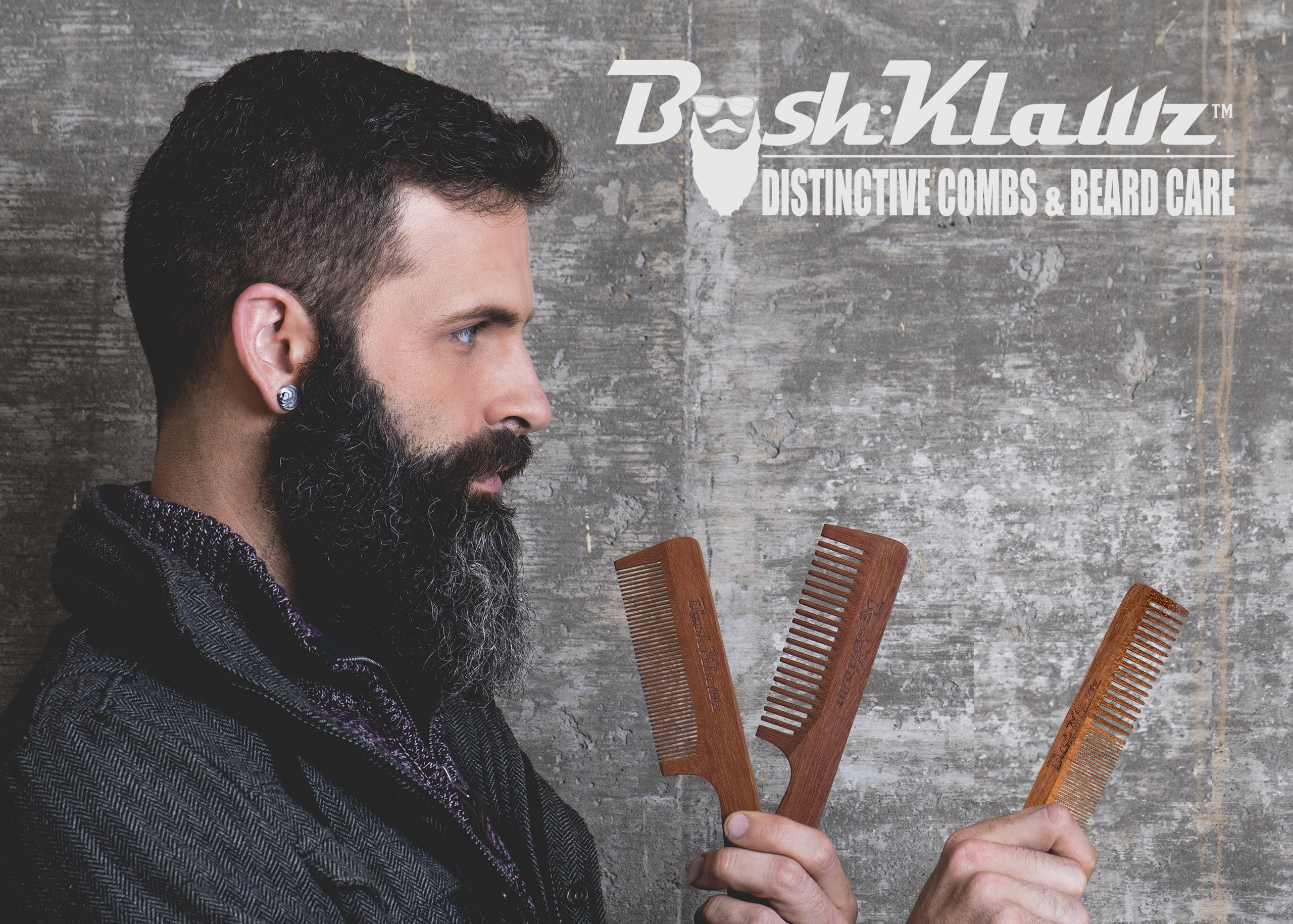 2Klawz Hair Comb for Men - Hair and Beard Comb with Wide and Fine Teeth Full Size 7'' Combination Comb - Best Man Comb Grooming Gift Special Gift For Mens comb Clark Kent Comb by BushKlawz (Image #6)