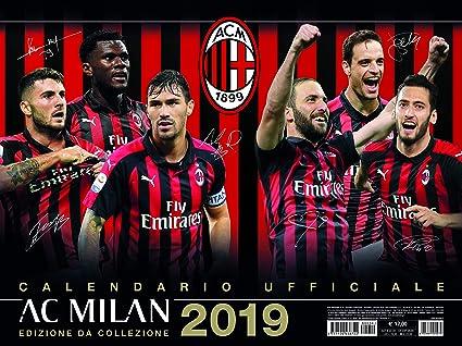 Calendario Ac Milan.Amazon Com Euro Publishing Ac Milan Calendario Orizzontale