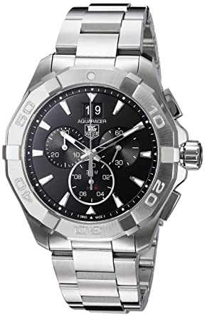 4413fa2cc16 Image Unavailable. Image not available for. Color: Tag Heuer Aquaracer 300M  Chronograph 43mm Black Men's ...