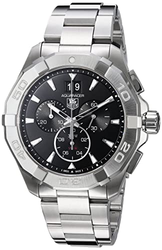 Tag Heuer CAY1110.BA0927 Reloj para hombre, Aquaracer 300 m, cronógrafo, 43 mm, color negro: Amazon.es: Relojes