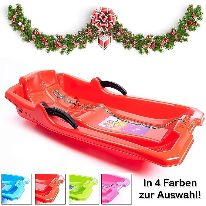 Turbo Slign - Trineo con Frenos ✅ ✅ Trineo de plástico para niños/niños pequeños/Adultos, Rojo: Amazon.es: Deportes y aire libre