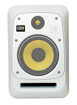 "KRK V8 Series 4 8"" 2-Way Powered Studio Reference Monitor, White"