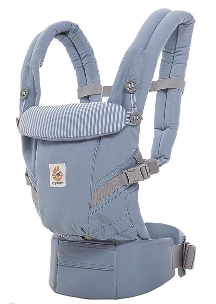 4in1 Baby Tragehilfe R/ückentrage Bauchtrage Neugeboreneneinsatz Ergobaby Babytrage 360 Cool Air Carbon Grey inkl