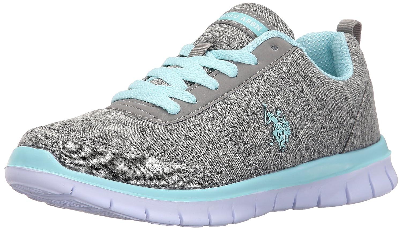 U.S. Polo Assn. Women's Women's Cece Fashion Sneaker B01BEY1GWQ 6 B(M) US|Grey Heather Jersey/Mint