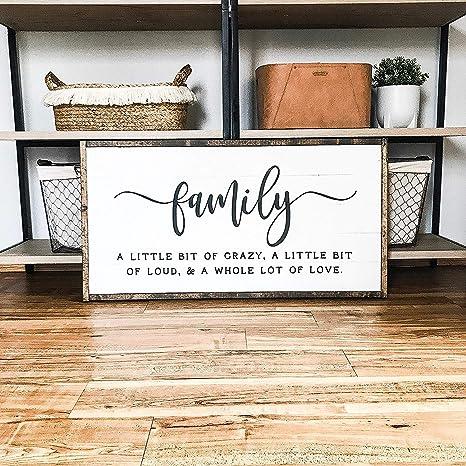 Amazon.com: Cartel de madera con texto en inglés «Family A ...