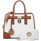 DASEIN Women Handbags Top Handle Satchel Purse Shoulder Bag Briefcase Hobo Bag Set 2pcs