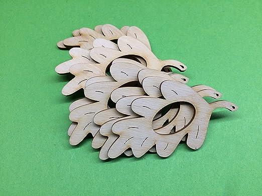 8cm Petras Bastel News 10 x Serviettenhalter Ahornblatt aus Holz