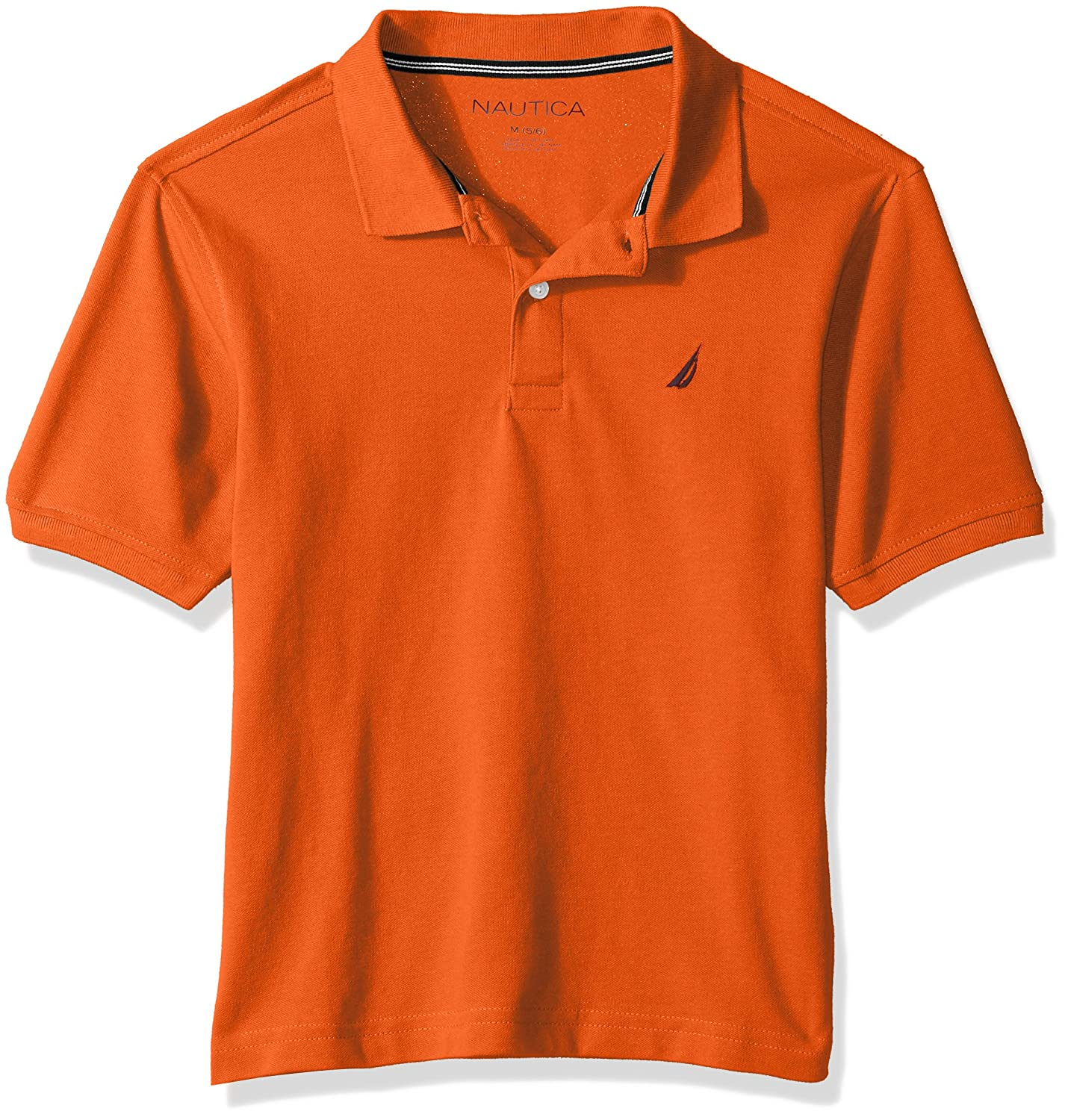 Nautica Boys' Short Sleeve Deck Polo with Stretch