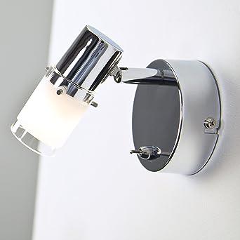 Lean Applique Murale Led 3 W Avec Interrupteur Blanc Chaud Amazon