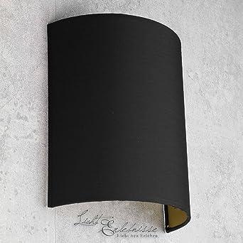 moderne loft wandleuchte in schwarz-gold e27 stoffschirm wandlampe ... - Wohnzimmer Schwarz Gold