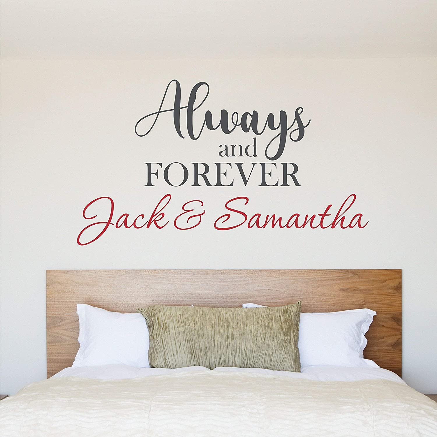 Custom Couple Name Wall Decal - Personalized Name Wall Sticker - Custom Name Wall Sign - Monogram Stencil