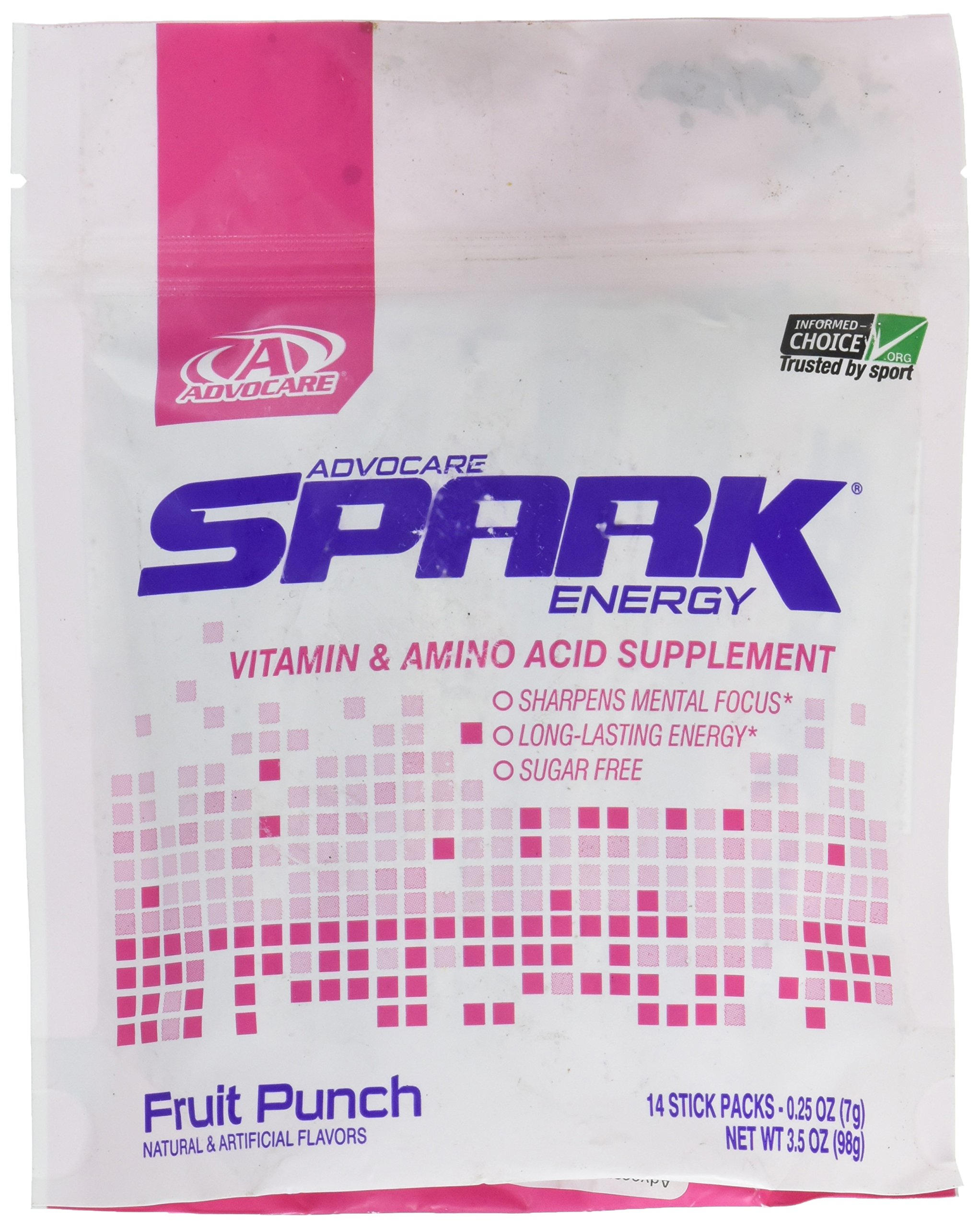 Advocare Spark Energy Fruit Punch 14 stick packs
