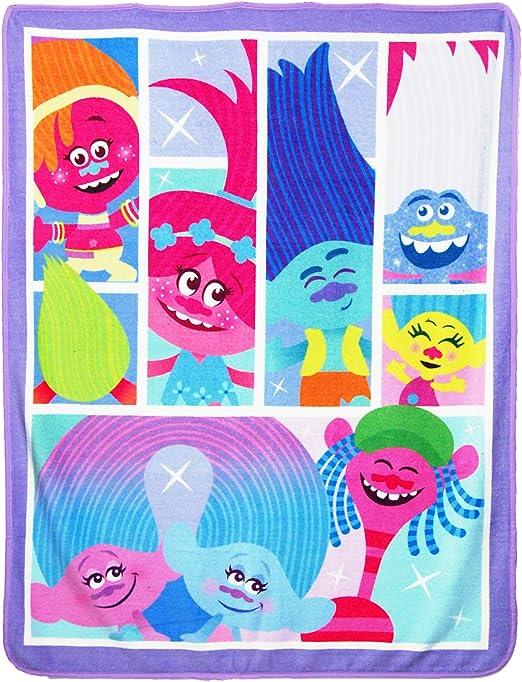 46 x 60 Multi Color Universal Studios Trolls,Dance Hall Micro Raschel Throw Blanket