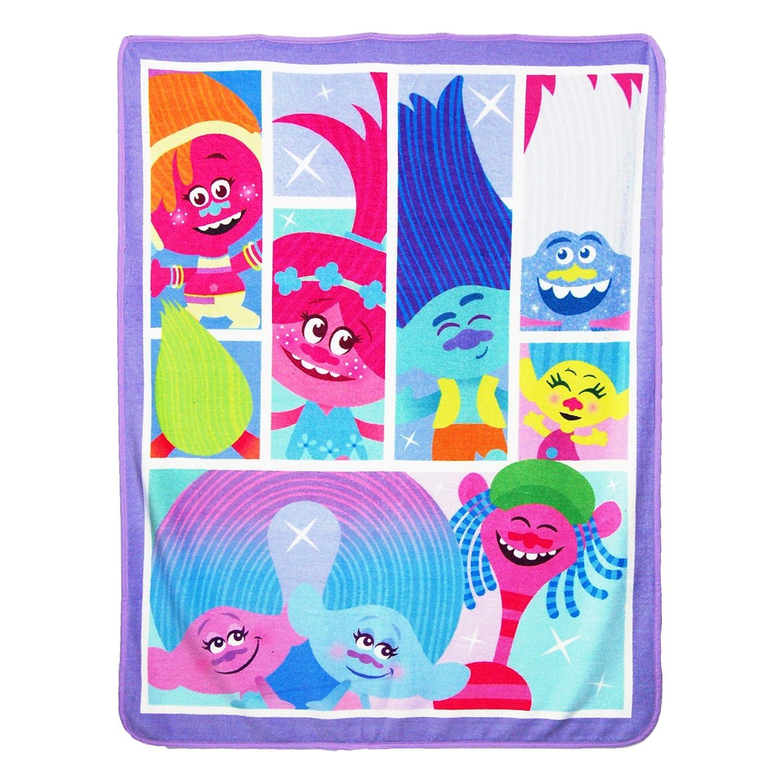 Universal Trolls Lets Party Micro Raschel Throw Blanket 46 x 60 Let/'s Party Micro Raschel Throw Blanket 46 x 60 The Northwest Company 1TRL//05900//0001//AMZ
