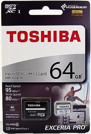Toshiba Tarjeta de Memoria Micro SD 64 GB EXCERIA Pro M401 ...