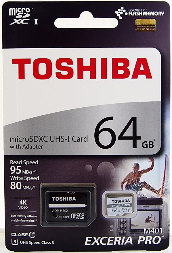 Amazon.com: Toshiba 64 GB Exceria Pro M401 microSDXC UHS-I ...