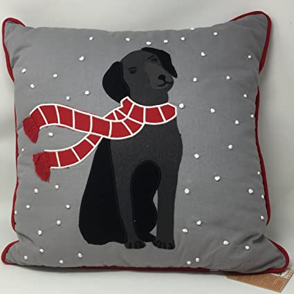Amazon Martha Stewart Collection Winter Black Lab Snow Dog Inspiration Martha Stewart Collection Bedding Dogs Decorative Pillows