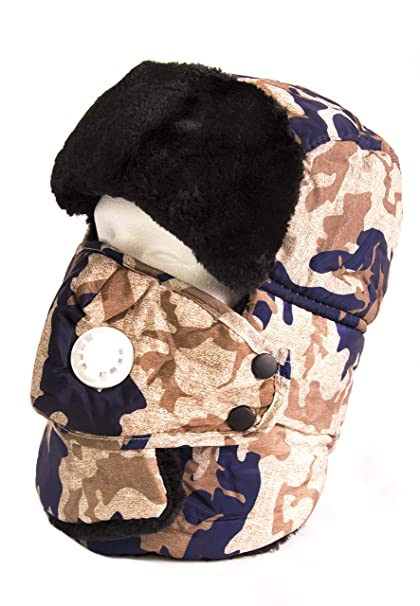 f0809a5c9bb81 Sakkas 18219 - Alex Unisex Ushanka Faux Fur Windproof Trapper Aviator Hat  Removable Mask - 18217