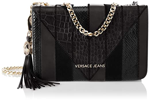 c7366770378a Amazon.com  Versace EE1VSBBP1 E899 Black Shoulder Bag for Womens  Clothing