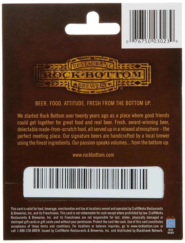 Amazon.com: Rock Bottom Restaurants $25: Gift Cards
