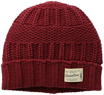 United Colors of Benetton 126MU0447, Bonnet Homme, Rouge (Red), S(UK ... a423354526a