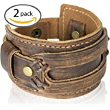 Comfortable Leather Cuff Bracelet by Tundra Jewelry