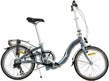 20 Pulgadas Bicicleta plegable 6 velocidades Popal Subway F201, gris