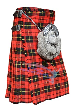 9e47a812fd54 Wallace 8 Yard   16 Oz Traditional Kilts - Tartan Kilts at Amazon ...