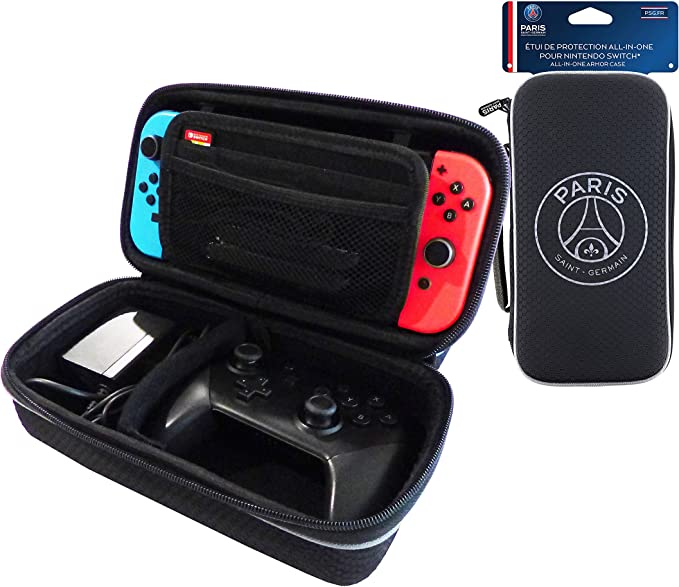 Subsonic - Estuche de almacenamiento XL rígido y antichoque para Nintendo Switch - Maletín de almacenamiento en EVA con cremallera zip - Licencia oficial PSG Paris Saint Germain: Amazon.es: Videojuegos