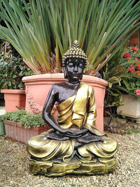 DEGARDEN AnaParra Figura Decorativa Buda del Amor Decorativa para Jardín o Exterior Hecho de hormigón-Piedra Artificial | Figura Buda Grande
