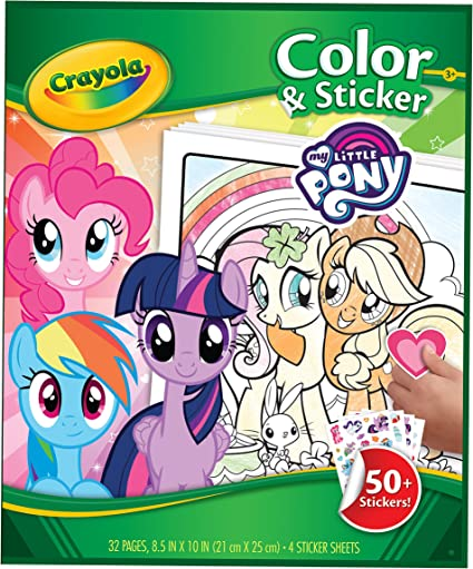 - Amazon.com: Crayola 04-0358-E-000 Entertainment One My Little Pony Color  And Sticker Book: Toys & Games