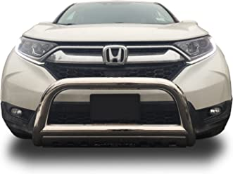 FOR 2009-2014 HONDA PILOT CHROME STAINLESS FRONT BUMPER BULL BAR W// SKID PLATE