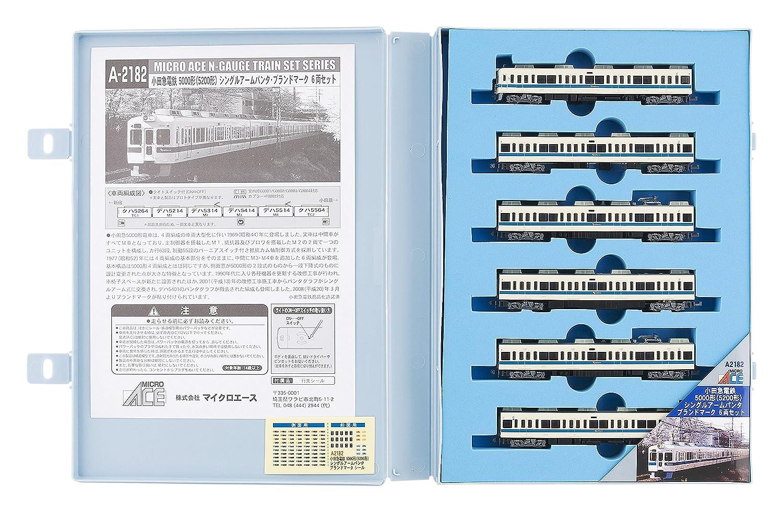 マイクロエース Nゲージ 小田急5000形 5200形 シングルアームパンタ ブランドマーク 6両セット A2182 鉄道模型 電車 B0043EB8LO