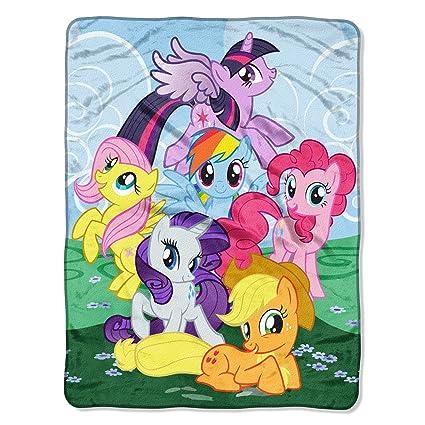 amazon com my little pony join the herd micro raschel throw
