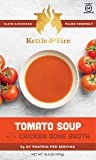 Creamy Organic Tomato Soup with Collagen-Rich Chicken Bone Broth - Full of Protein & Other Nutrients, Gluten Free. Instant Soup On The Go - Supports Gut & Digestive Health - Soups To Go