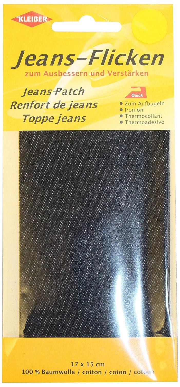 Kleiber - Parche de reparación para pantalones vaqueros, 17 x 15 cm, color negro