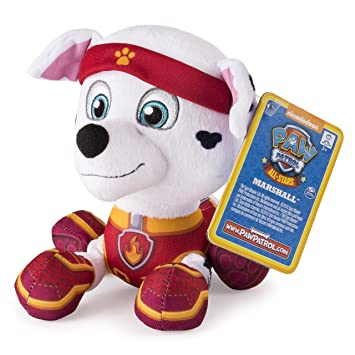 Patrulla Canina - Peluche básico All Star Marshall (Bizak 61926614)