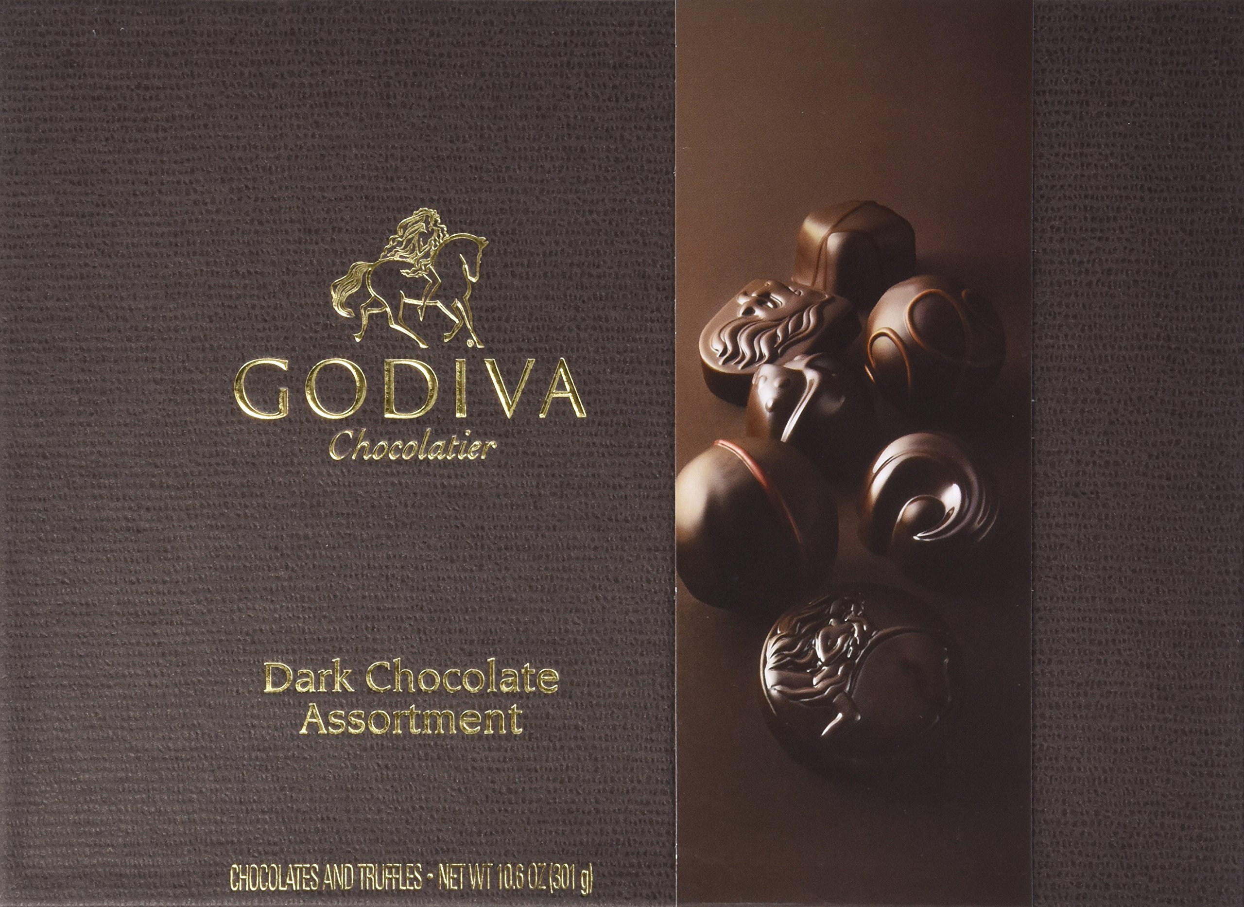 GODIVA Chocolatier Dark Chocolate Assortment Gift Box, Classic Ribbon, 27 pc. by GODIVA Chocolatier (Image #1)