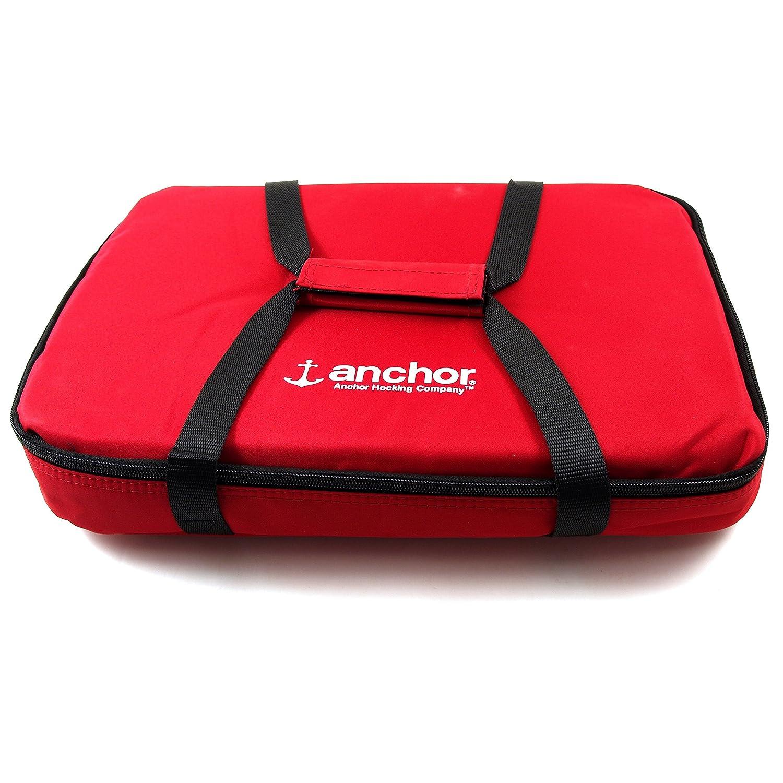 Anchor Hocking Essentials Red 4 Piece Bake 'N Take Set 91087