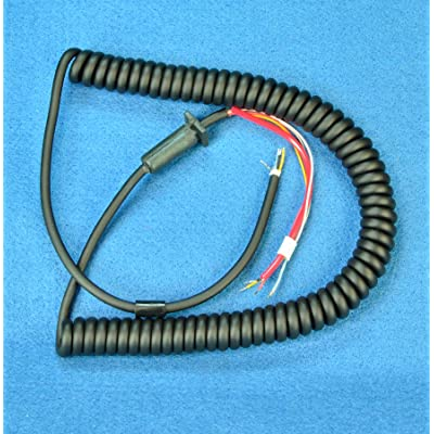 Replacement MIC CORD - 6 wire - 10 Ft Coiled - CB / Ham Radio - Workman MIL10: Automotive