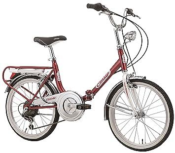 Papilioshop - Cinzia Bicicleta plegable hecha en Italia para transportar en coche, caravana, autocaravana